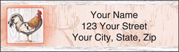 Roosters Address Labels - click to preview