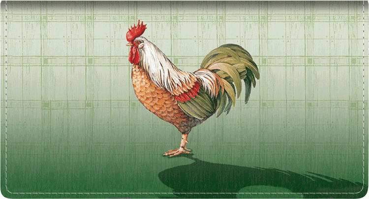 Roosters Side Tear Checkbook Cover - click to view larger image