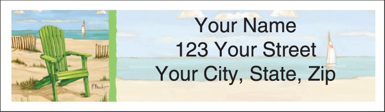 Shoreline View Address Labels - click to preview