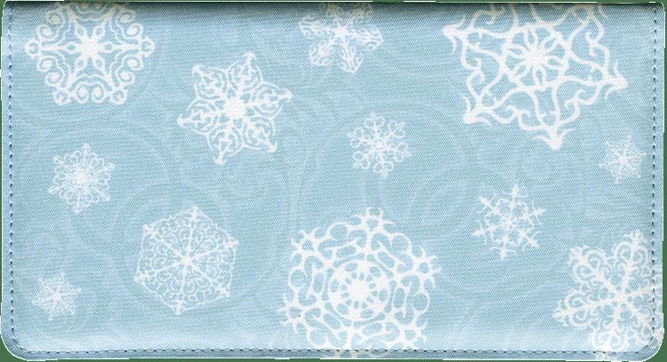Snowflake Side Tear Checkbook Cover