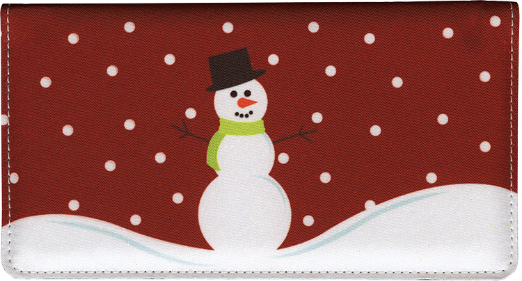 Snowman Side Tear Checkbook Cover - click to view larger image