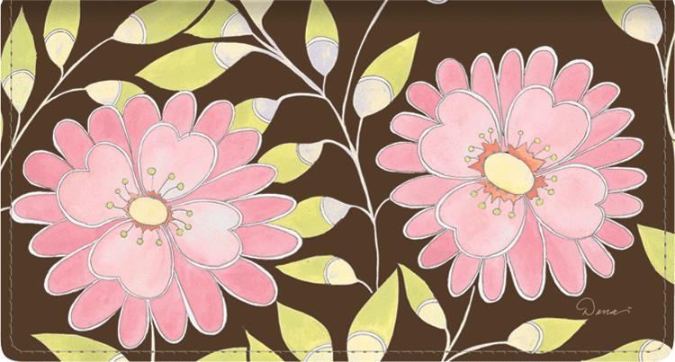 Sweet Blooms Side Tear Checkbook Cover