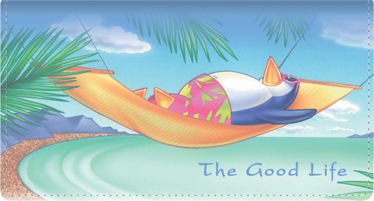 The Good Life Side Tear Checkbook Cover - click to view larger image
