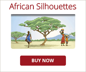 African Silhouettes Checkbook Cover