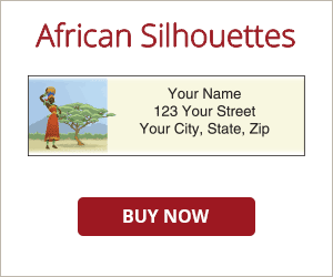 African Silhouettes Address Labels