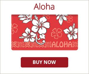 Aloha Checkbook Cover