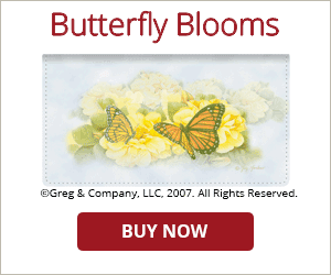 Butterfly Blooms Checkbook Cover