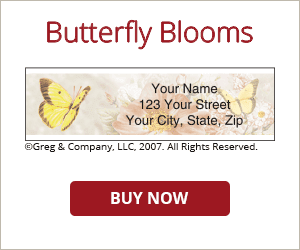 Butterfly Blooms Address Labels