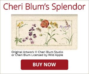 Cheri Blum's Splendor Checkbook Cover