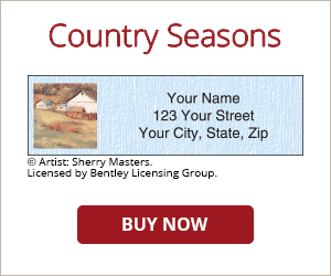 Country Seasons Address Labels