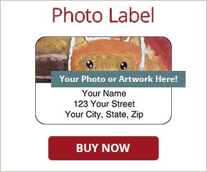 Artistic Photo Return Address Labels