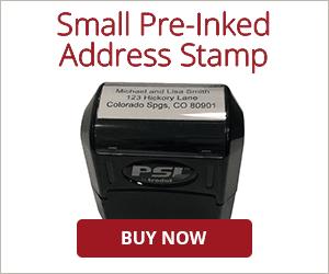 3 Line Pre-Inked Address Stamp