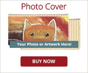 Tan Stripes Photo Checkbook Cover